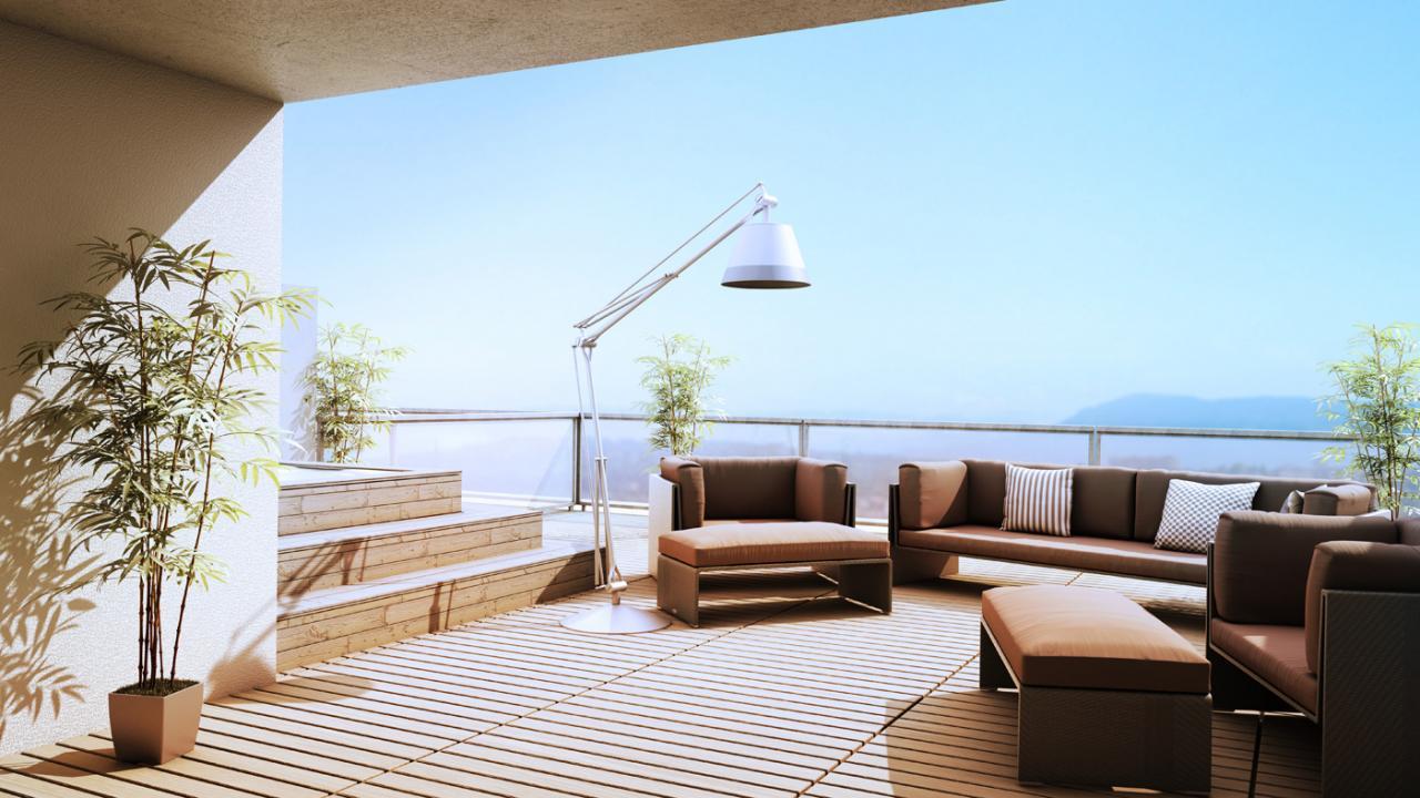 Attiques duplex terrasse sur toit immobilier de luxe - Appartement luxe en californie horst architects ...
