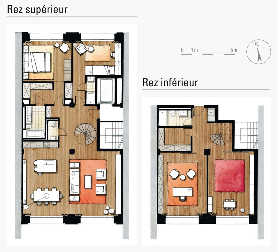 Plans de duplex joy studio design gallery best design for Plan de loft
